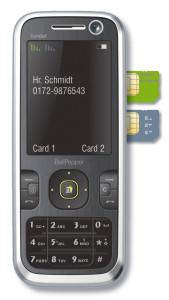 Dual simes telefonok több szolgáltatóhoz.